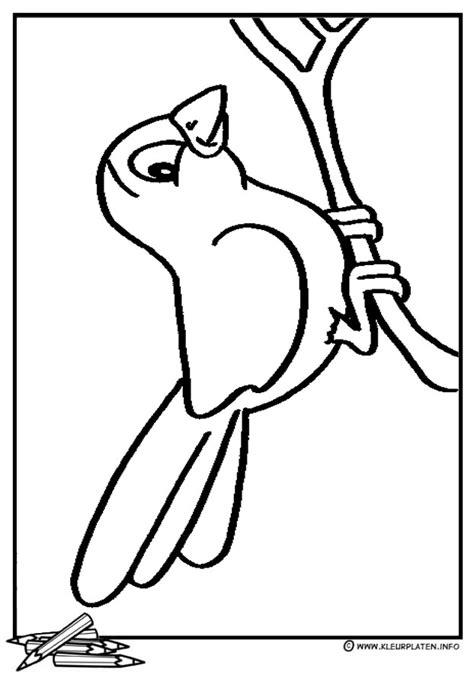 Escher Vogel Kleurplaat by Pin Kleurplaat Vogels Met Nestkastje Afb 12554 On
