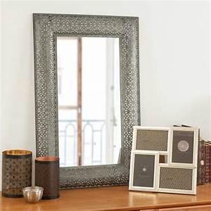 Miroir En Mtal Noir INDIRA Maisons Du Monde DCo