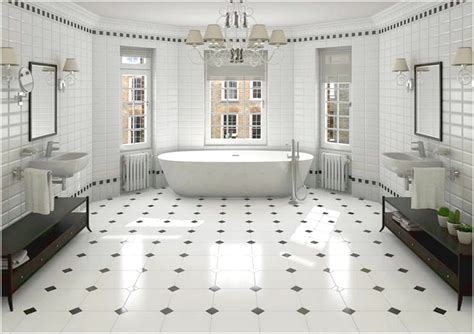 Color And Patterns Tile Bathroom Black And White Tile