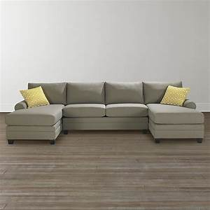 Double chaise sectional sofa tourdecarrollcom for Sectional sofa without chaise