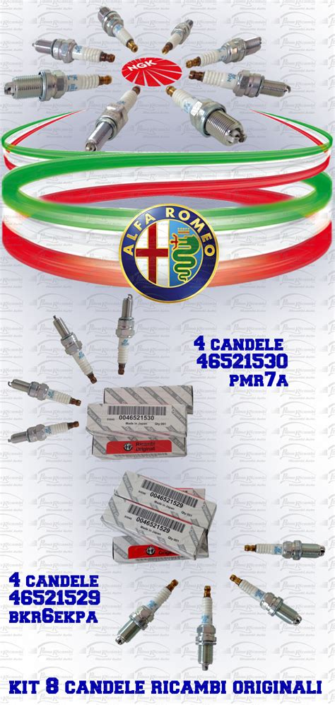 Candele Alfa 156 by 8 Bougies Original Alfa Romeo 147 156 Moteur Spark 4
