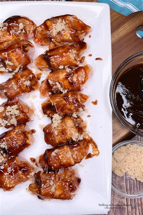 air fryer chicken bacon bbq wrapped bites barbecue instructions baking