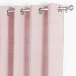 Nappe Rose Pale : rideau 140 x h260 cm plis rose p le rideau tamisant ~ Teatrodelosmanantiales.com Idées de Décoration