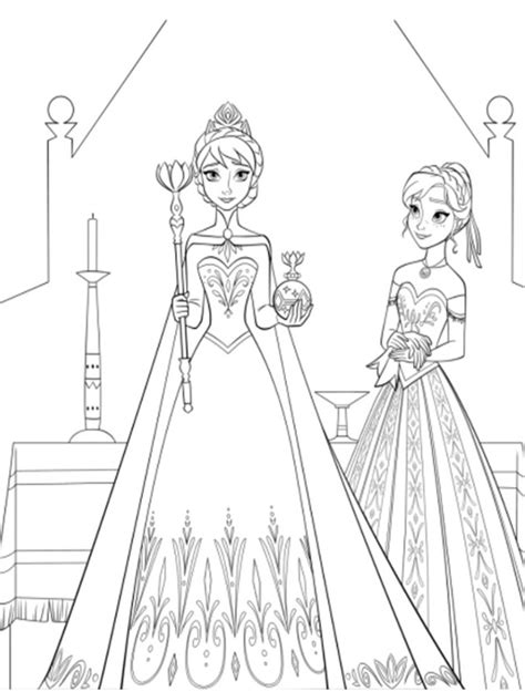 luxury  coloring pages elsa  anna coloring pages