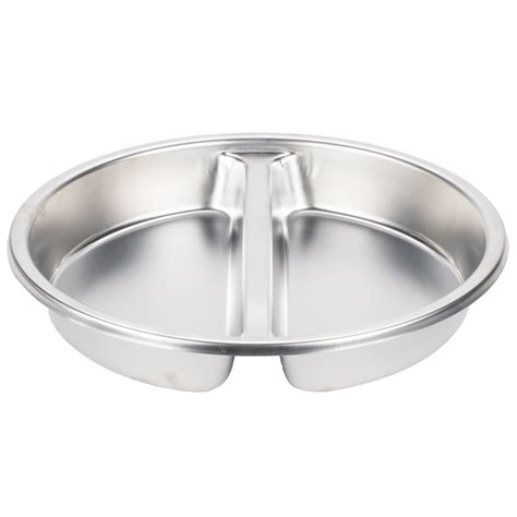 Stainless Steel Round Divided Food Pan For 6 Qt Round