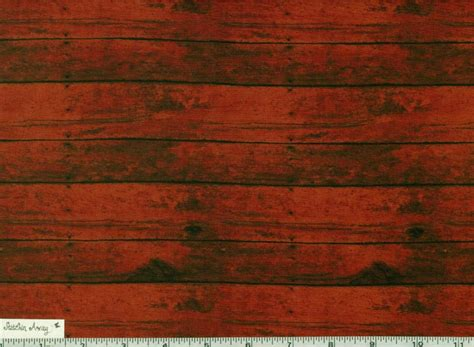 Red Barn, Distressed Wood Fabric, Quilting, Sewing New 100