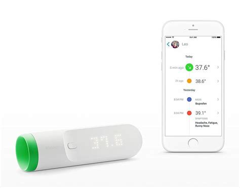 Product Of The Week Withings Smart Thermometer by The Withings Thermo Smart Thermometer Is To Its