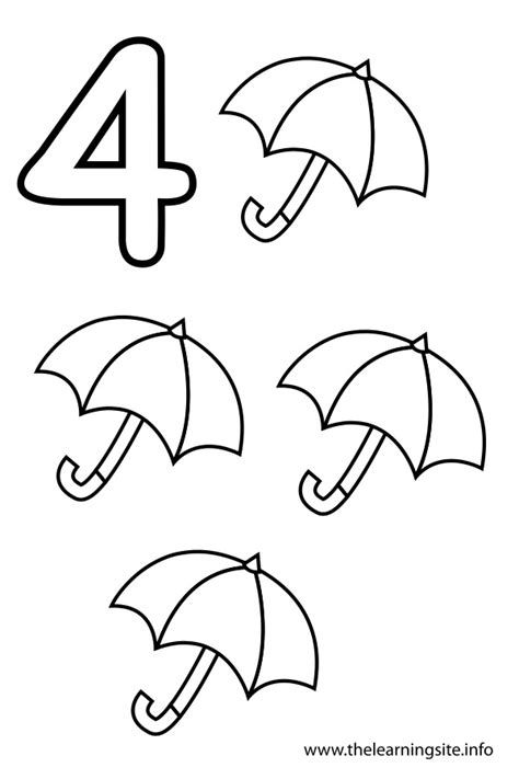 Number 4 Coloring Page - GetColoringPages.com