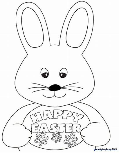 Easter Coloring Bunny Colouring Printable Pages Printables