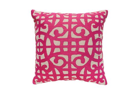 Large Accent Pillows by Accent Pillow Fuschia Large Gate 22x22 Living Spaces
