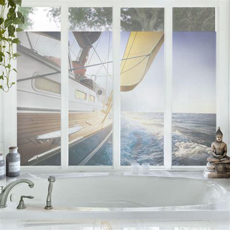Sichtschutzfolie Fenster Foto by Fensterfolie Sichtschutz Fenster Segelboot Auf Blauem