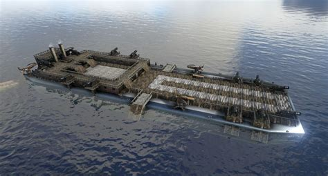 Ark Boat Designs Ps4 by Aircraft Carrier Mobile Base By Domburrows 95 Ark Se