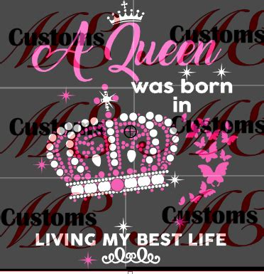 crowned queen  born svg design  womens casual