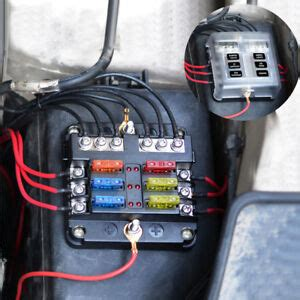 Marine Fuse Box Wiring by 6 Way Blade Fuse Box 12 Volt Power Distribution Fuse