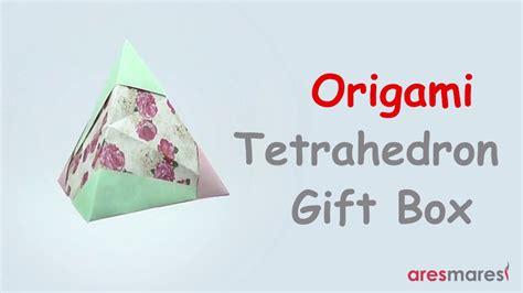 Origami Tetrahedron Gift Box Easy Modular Youtube