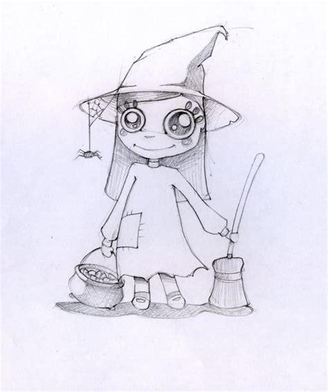 dibujos  colorear la brujita de halloween es