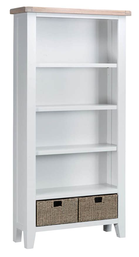 Assembled Bookcases by Woodbridge Large White Bookcase Fully Assembled Oak World