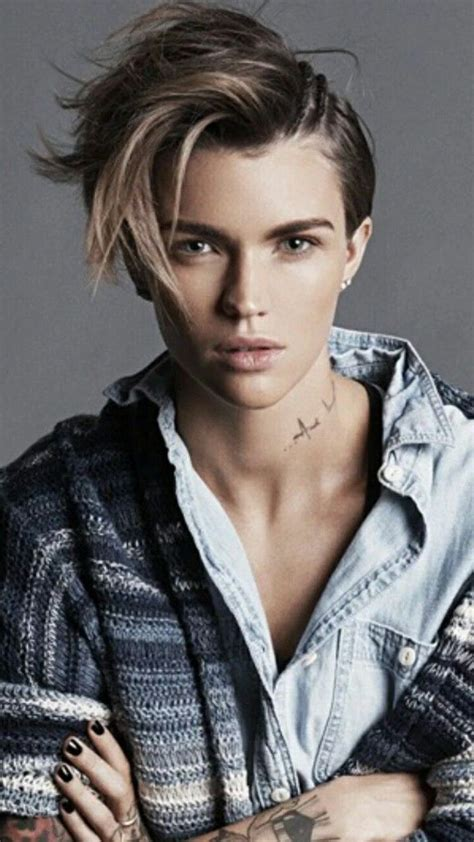 ruby rose tomboy androgynous hairstyles ruby rose