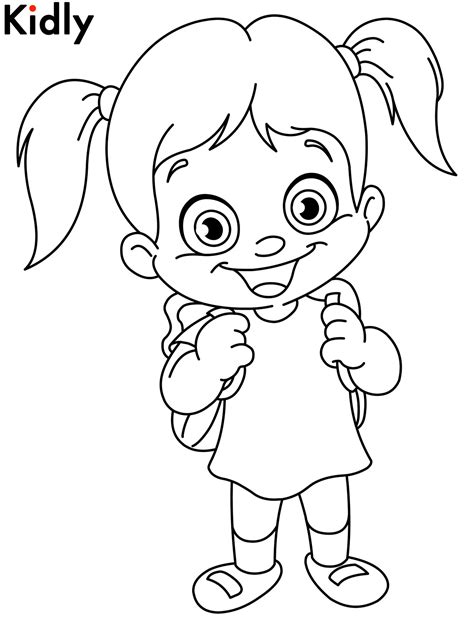 happy girl coloring pages   print