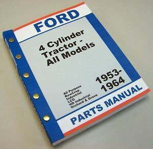 ford   tractor master parts manual catalog