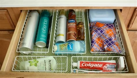 organize small kitchen the orderly home bathroom organization drawers 1251