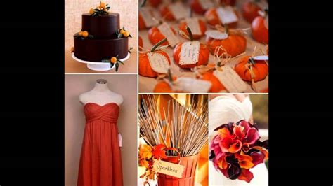 Fall wedding Decorations ideas on a budget YouTube