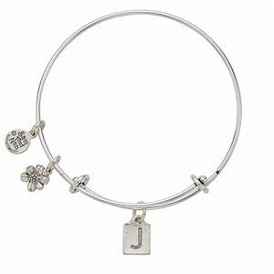 Letter j charm bangle bracelet samandnancom for Letter j bracelet
