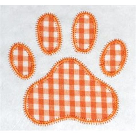 free applique designs free paw print applique design