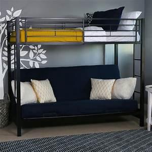 Amazoncom walker edison twin over futon metal bunk bed for Twin over futon bunk beds