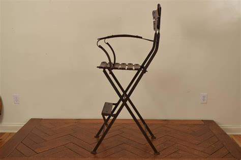 forged iron and wooden folding umpire s chair
