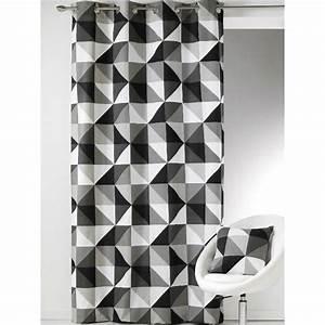 Rideau Forme Geometrique : rideau pr t poser motifs graphiques et g om triques des triangles noir et blanc tr s ~ Melissatoandfro.com Idées de Décoration