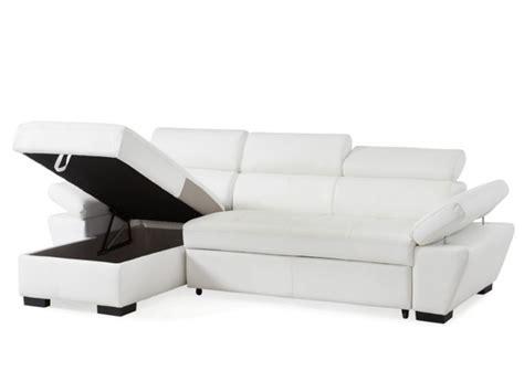divano letto angolare in pelle divano letto angolare pelle antracite o bianco jonova
