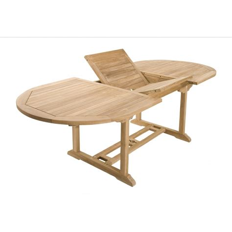 table chaise exterieur salon de jardin teck table ovale 180 240cm 6 chaises