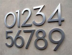 sell exquisite workmanship of brushed stainless steel With stainless steel address numbers and letters