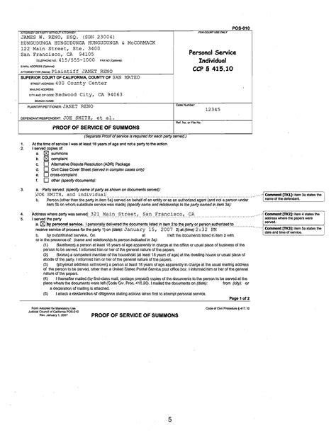 proof of service template affidavit and proof of service requirements guide 24146   POS Individual Personal Service Page 11