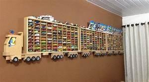 DIY Wooden Truck Hot Wheels Display Home Design, Garden