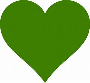 Solid Green Heart Clip Art at Clker.com
