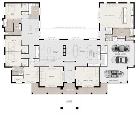 floor plan friday  shaped  bedroom family home