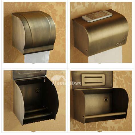 Antique Bronze Brown vintage Toilet Paper Holder