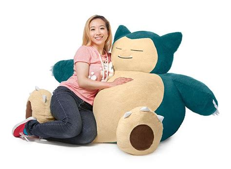 finally  officially licensed snorlax beanbag chair