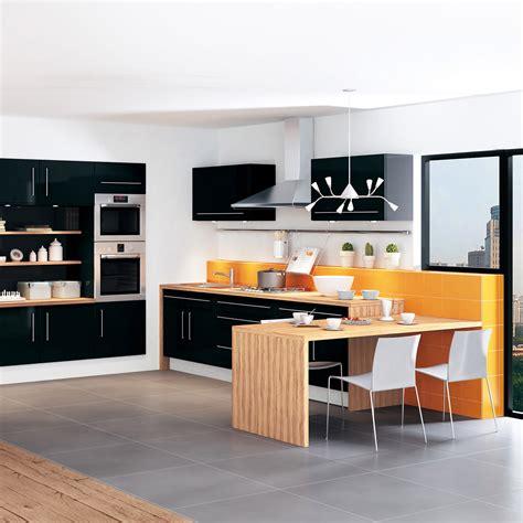d馗o cuisine moderne cuisine moderne design et colorée leroy merlin photo 1 12 cette cuisine et orange se joue des