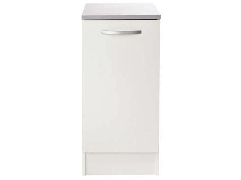 meuble bas cuisine 80 cm meuble bas 40 cm 1 porte spoon coloris blanc vente de