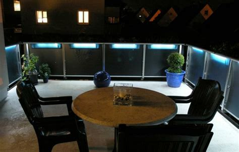 balkon beleuchtung solar balkon und garten len leuchten moderne coole ideen