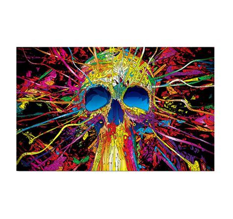 skull color blast pop art canvas artwall