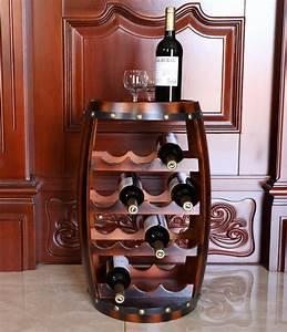 amazon, com, , vintiquewise, wooden, barrel, shaped, 14, bottle, wine, rack, , home, , u0026, kitchen