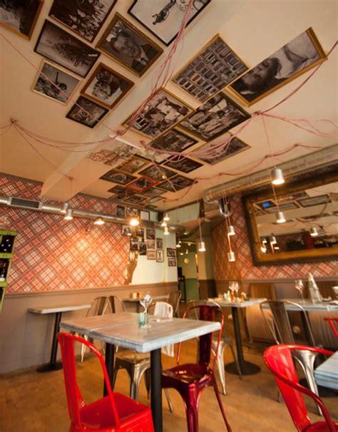 cuisine decoration bistrot restaurant vintage industriel à la décoration