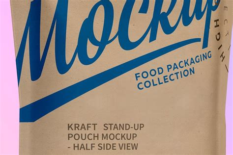 Free pouch packaging psd mockup. Kraft Paper Stand-Up Pouch Mockup | Creative Product ...
