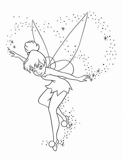 Tinkerbell Coloring Pages Skizzen