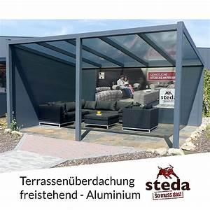 Terrassenüberdachung Freistehend Alu : terrassen berdachung aluminium 3x3 m 300x300 cm ~ Articles-book.com Haus und Dekorationen