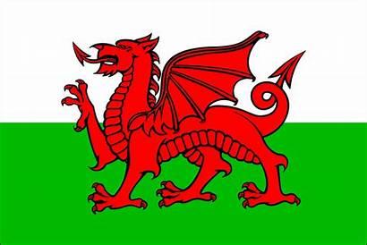 Welsh Flag Symbol National Drag Wales Vector